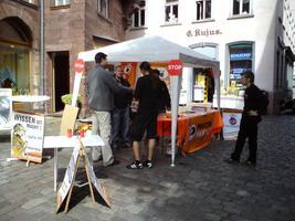 Bild vom Infostand in Marburg am 20.06.2009