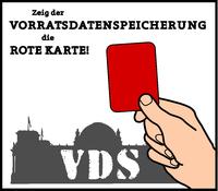 Banner: Aktionstag gegen die Vorratsdatenspeicherung