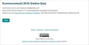Kommunalwahl 2016 Quiz