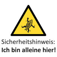 Sicherheitshinweisliche Warntafel