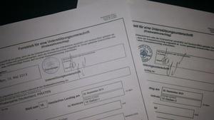 Wahlformulare